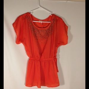 Studio Y XSmall Orange Top